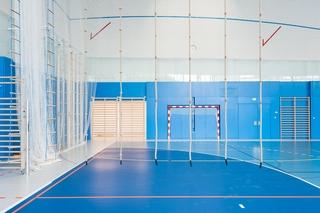 蓝色室内运动馆设计图