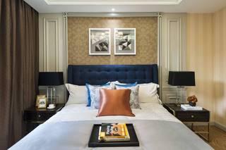 欧美风情三居卧室背景墙装修效果图