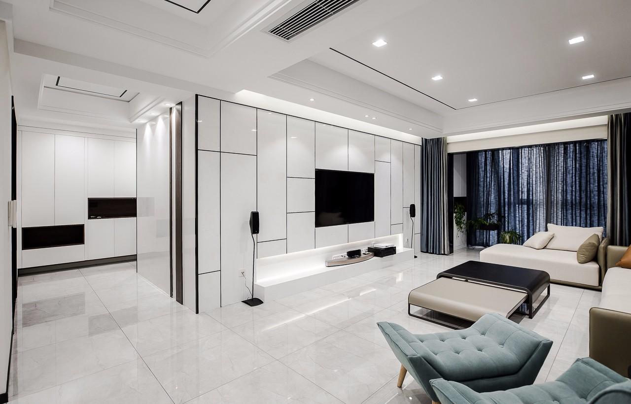 现代风格大户型电视背景墙装修效果图