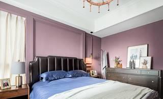 140平轻奢混搭风卧室背景墙装修效果图