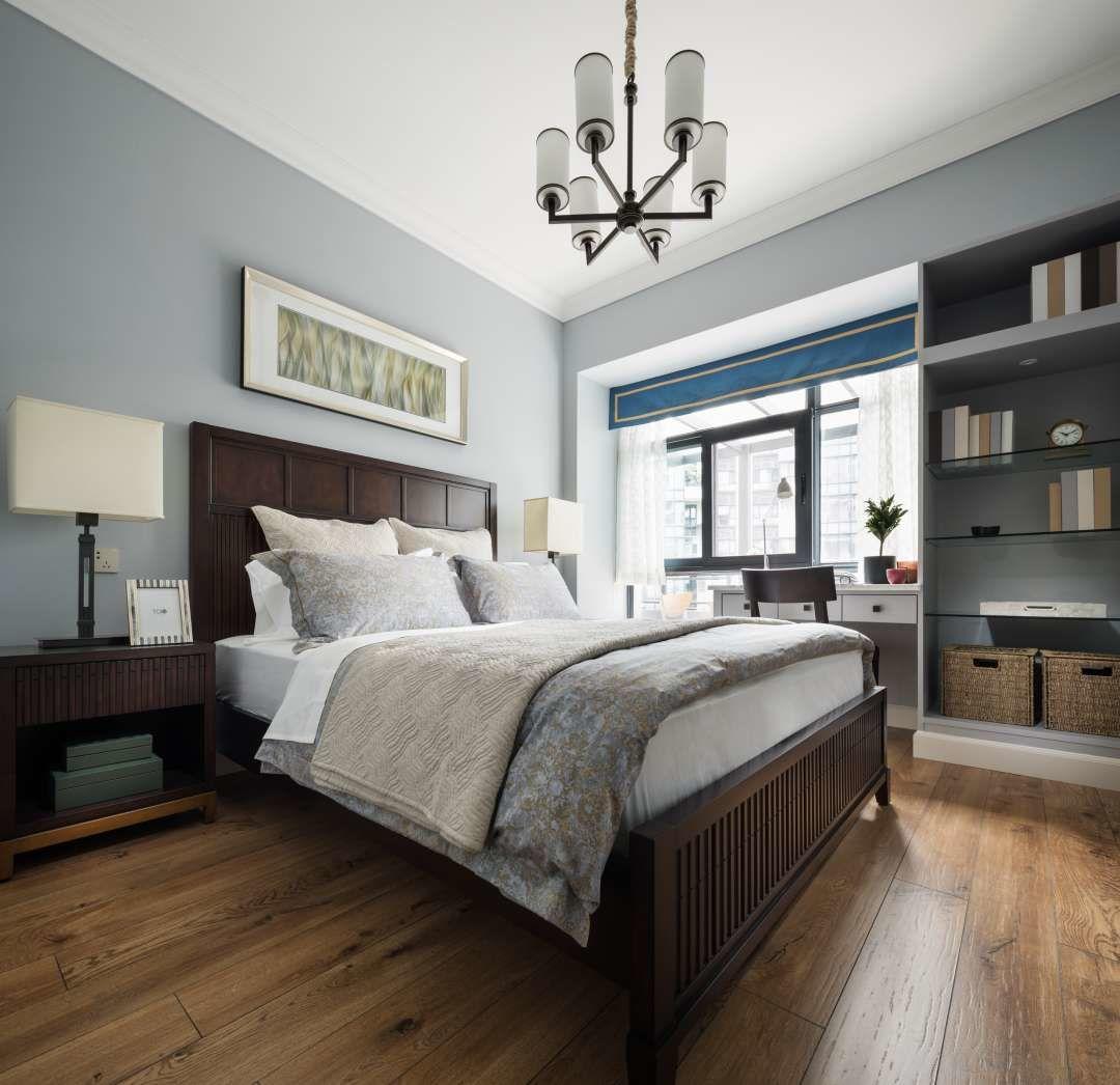 清雅美式风卧室装修设计图