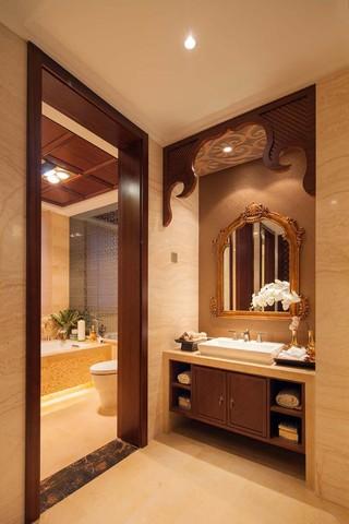 大户型东南亚风格洗手台装修效果图