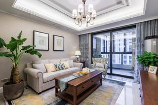美式风格三房客厅装修效果图