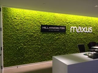 绿植形象墙设计效果图