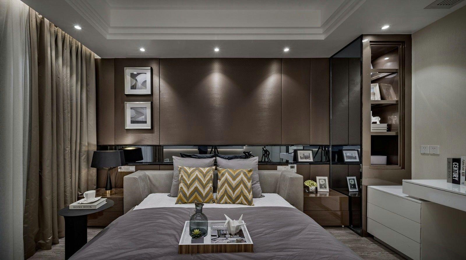 140平现代简约风格卧室背景墙装修效果图
