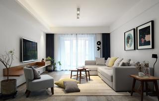 120平简约风格客厅装修效果图