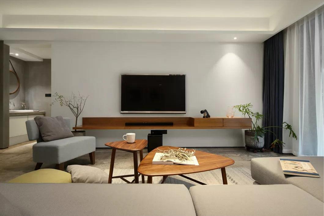 120平简约风格电视背景墙装修效果图