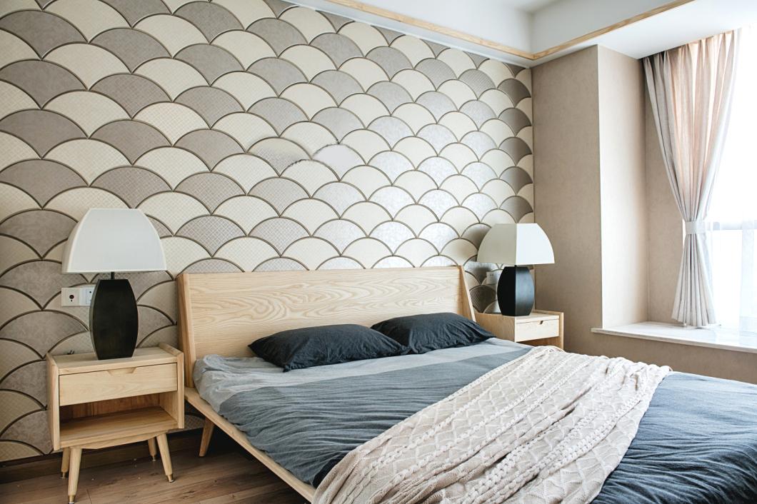 108㎡日式风格卧室装修效果图