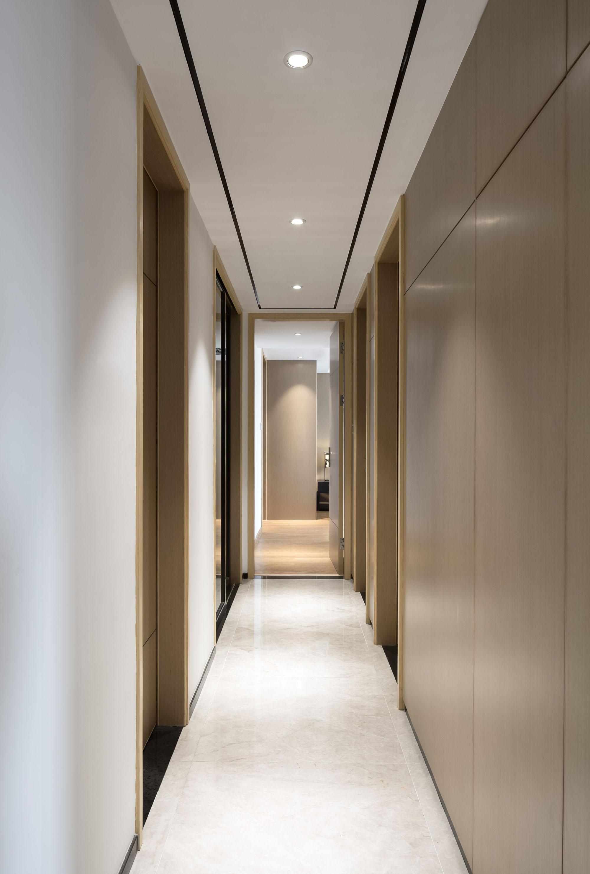 130平新中式走廊装修效果图