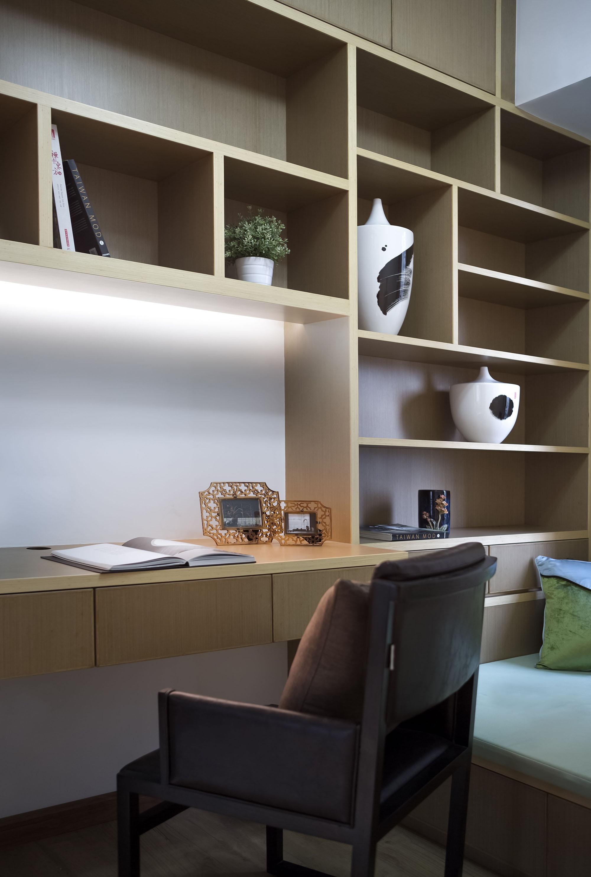 130平新中式书房装修效果图