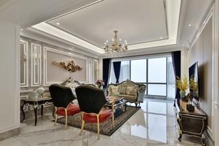 新古典风格大户型客厅装修效果图