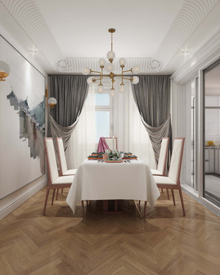欧式古典风格餐厅装修效果图
