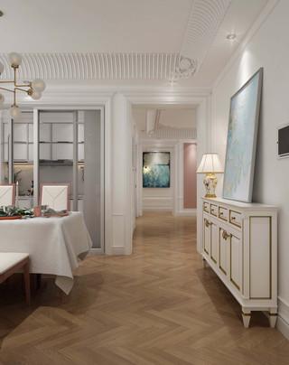 欧式古典风格餐厅过道装修效果图