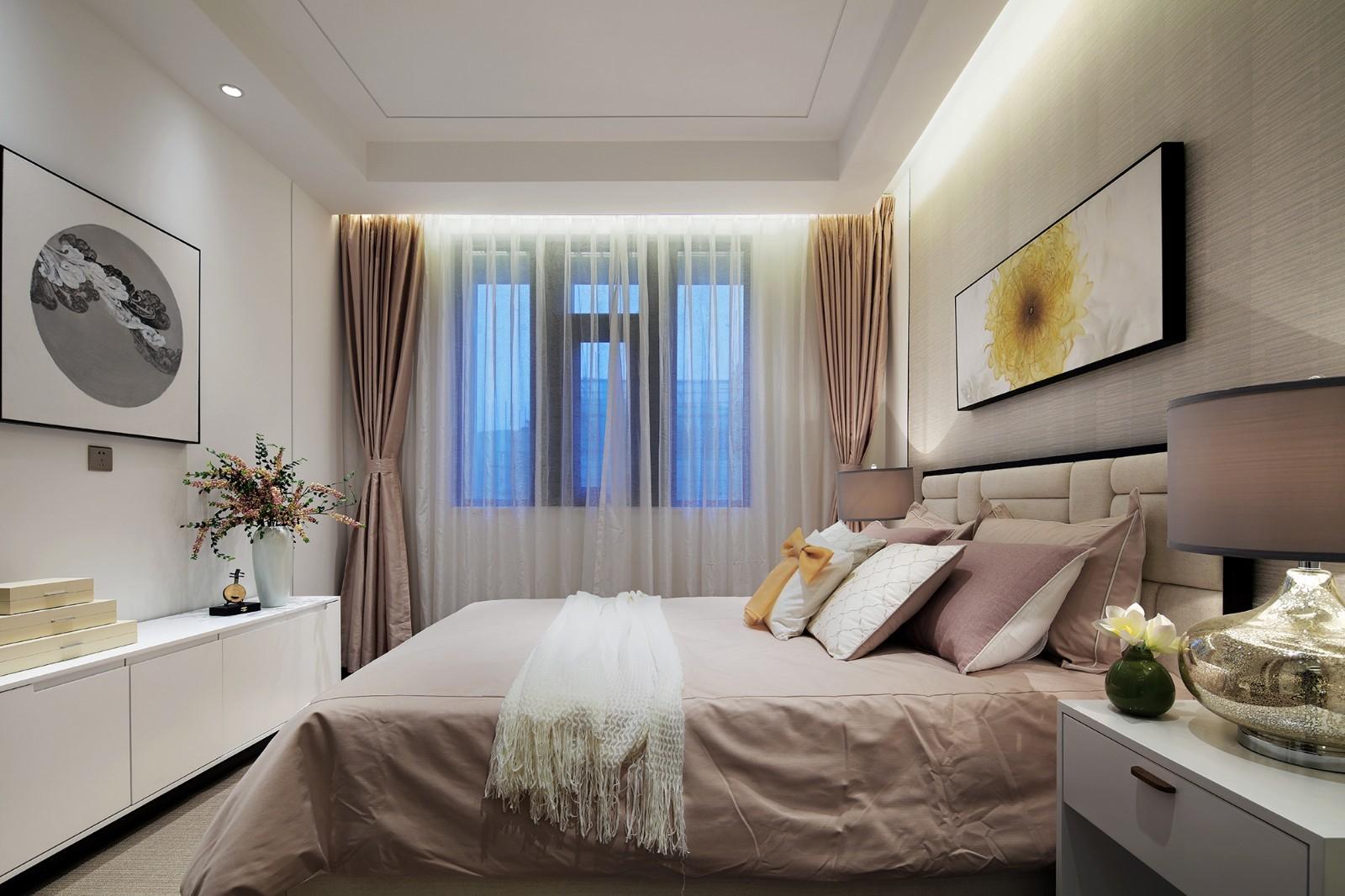 200㎡新中式风格卧室装修设计图