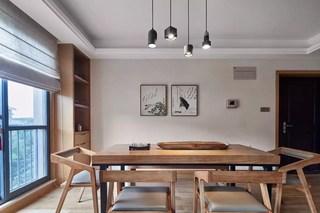 135㎡日式风格餐厅装修效果图