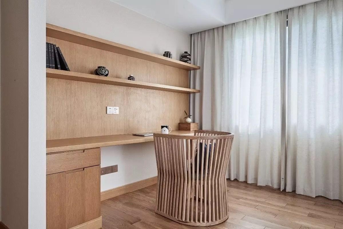 135㎡日式风格阳台书房装修效果图
