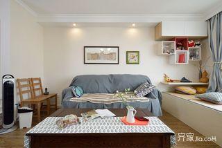 混搭风格两居室沙发背景墙装修设计图