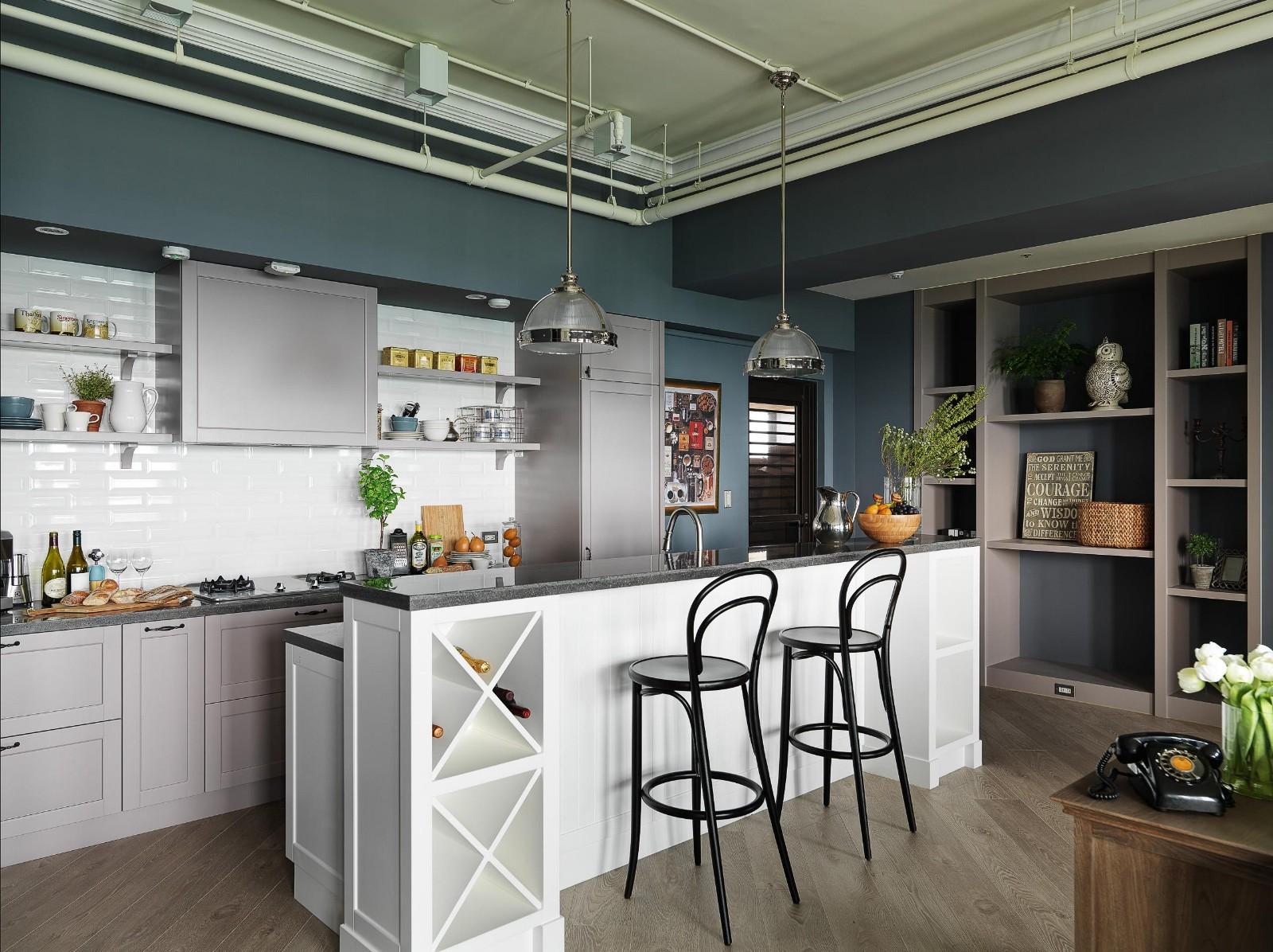 工业风格公寓厨房装修效果图