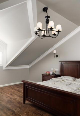110平美式好、阁楼卧室装修效果图