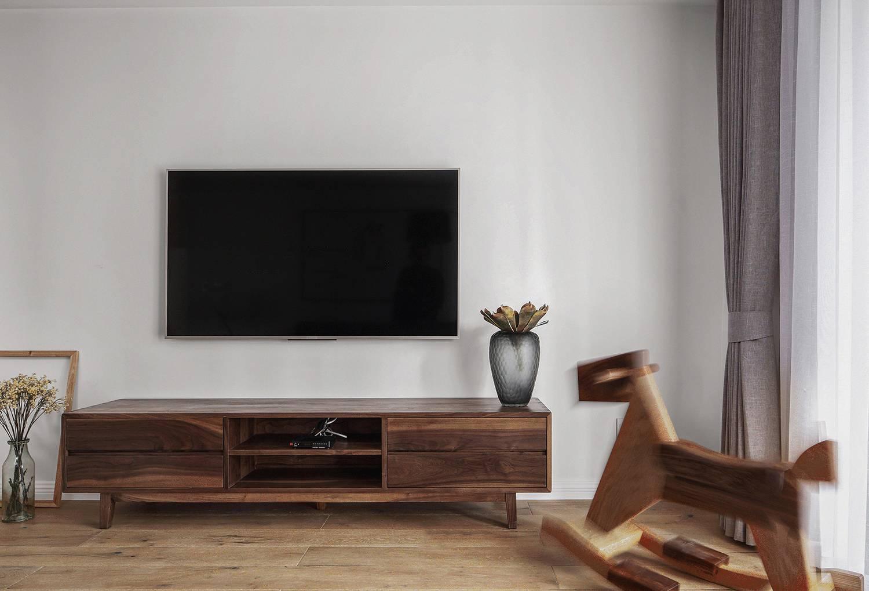 朴素简约风电视背景墙装修效果图