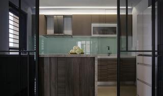 85平现代风格厨房装修效果图