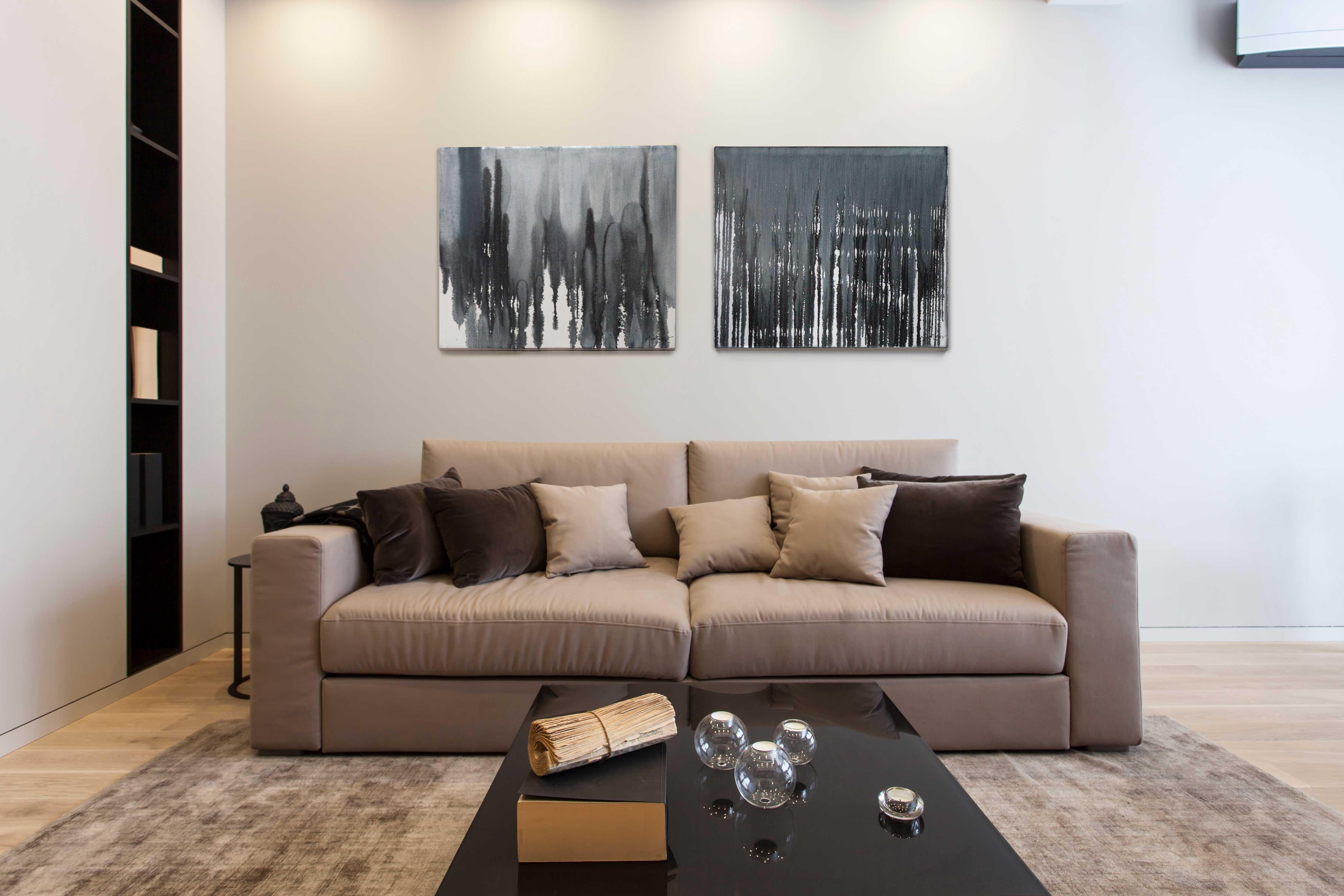 现代风公寓装修沙发设计图