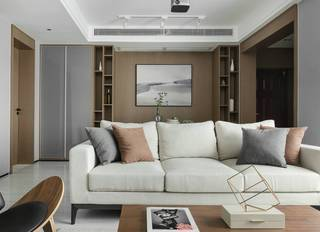 120平现代简约装修沙发设计图