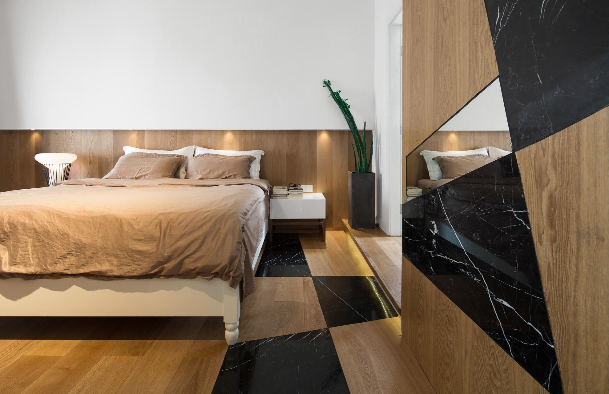 120平混搭风格卧室装修效果图