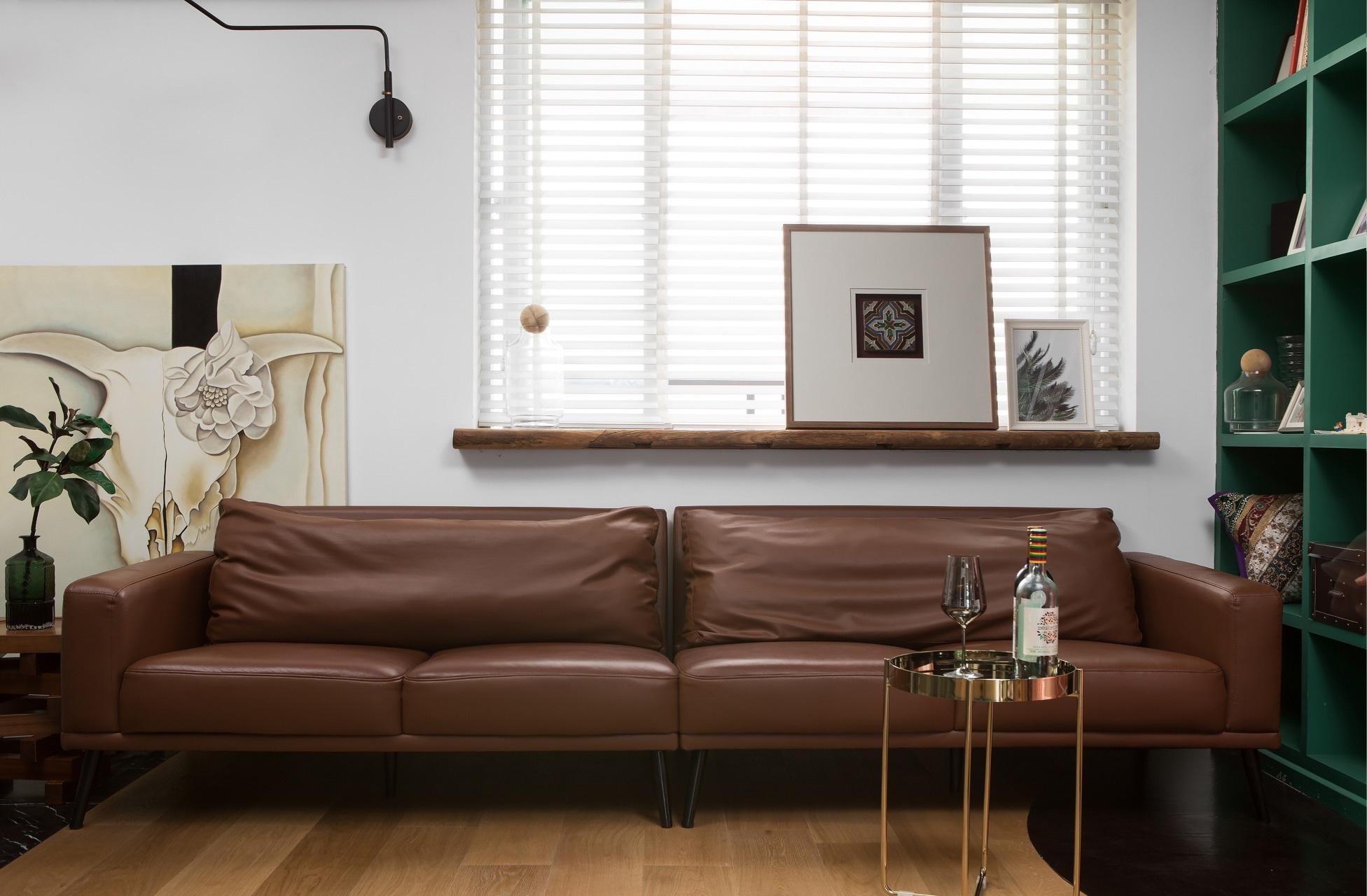 120平混搭风格装修沙发设计图