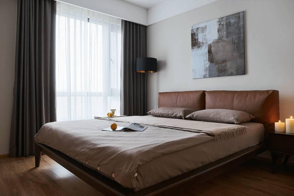 100㎡现代简约卧室装修效果图
