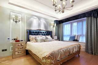 160㎡欧式风格卧室装修效果图