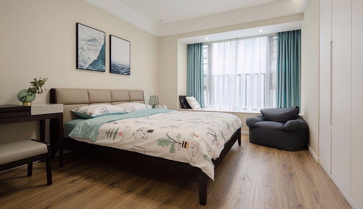 127㎡现代简约卧室装修效果图