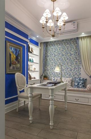 地中海风格三居书房装修设计图