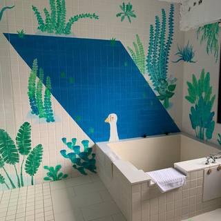 文艺小清新洗浴房装修效果图
