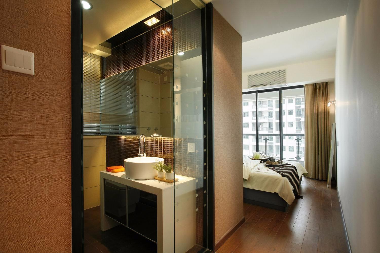 130㎡现代三居卧室卫生间装修效果图