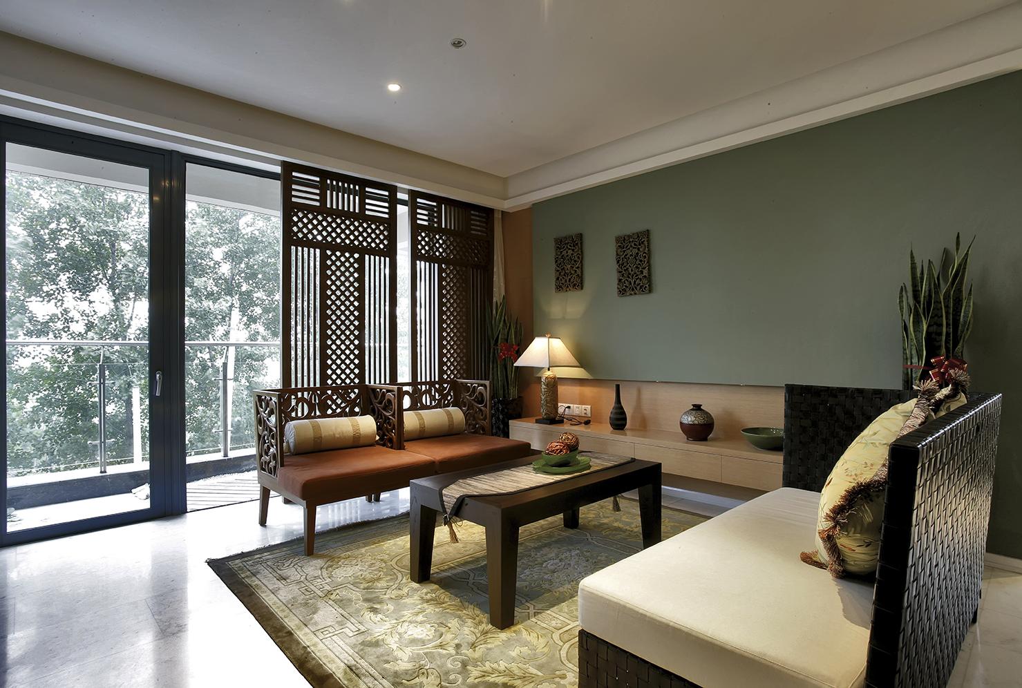 东南亚风格三居客厅装修设计图