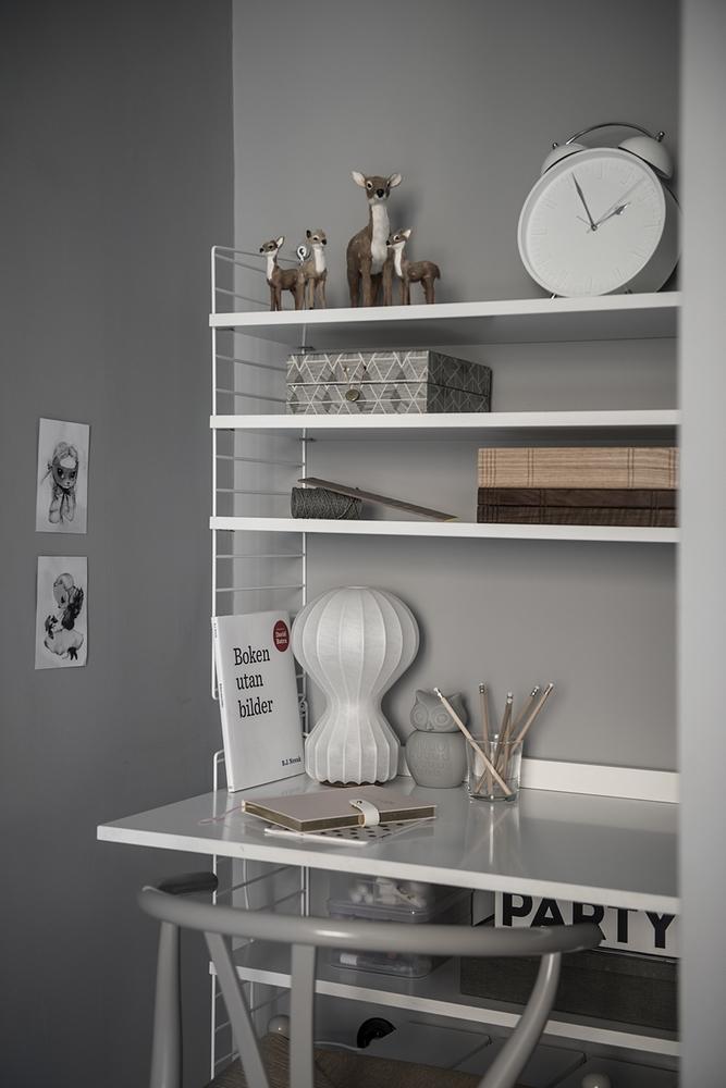 高级灰现代公寓书桌装修效果图