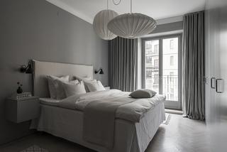 高级灰现代公寓卧室装修效果图