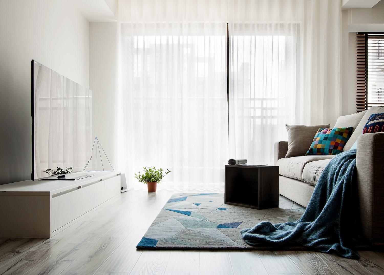 80㎡北欧工业风装修窗帘设计图