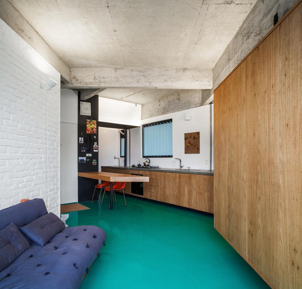 40平米水泥公寓客厅装修效果图