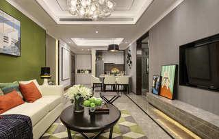 135平后现代风格客厅装修效果图