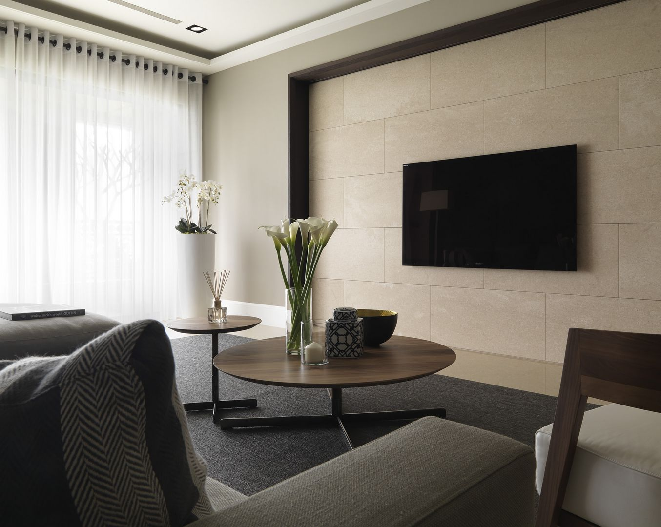 110㎡简约现代电视背景墙装修效果图