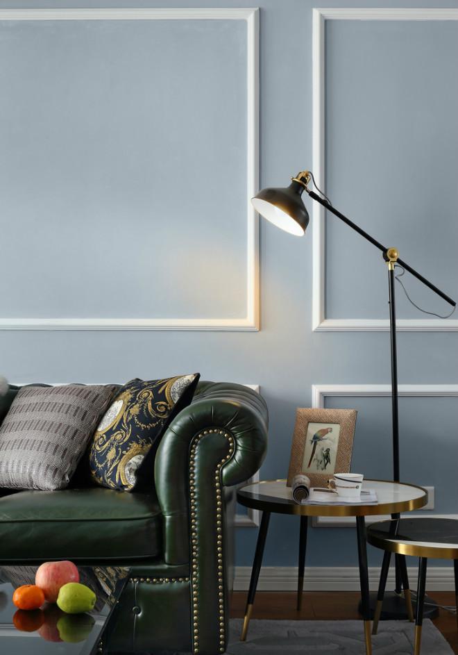 105平米美式风格沙发背景墙装修效果图