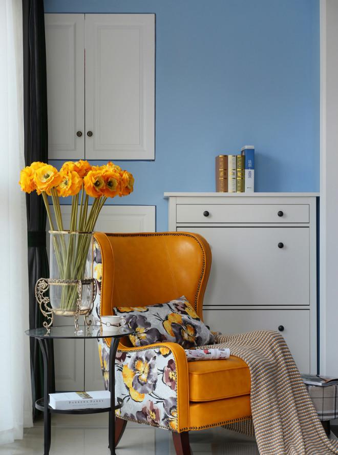 105平米美式风格装修沙发椅设计图