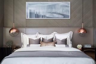 时尚现代别墅样板房卧室装修效果图