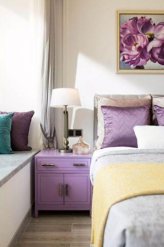 大户型高雅美式风装修床头柜设计图