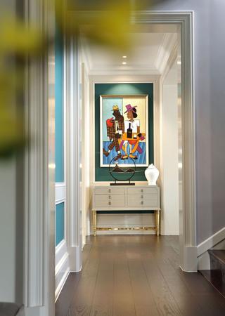 欧美风情别墅玄关装修设计效果图