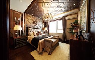 奢华欧式古典风格卧室装修效果图