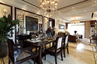 奢华欧式古典风格餐厅装修效果图