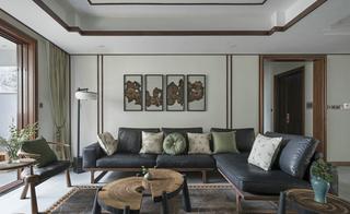 禅意新中式风格客厅装修效果图